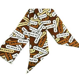 コーチ(COACH)のコーチ スカーフ美品  - リボンスカーフ(バンダナ/スカーフ)