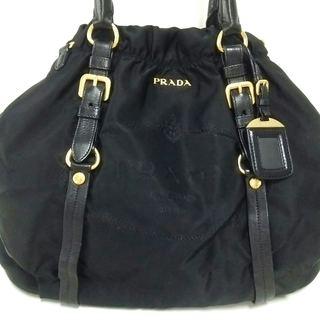 プラダ(PRADA)のプラダ トートバッグ ロゴジャガード 黒(トートバッグ)