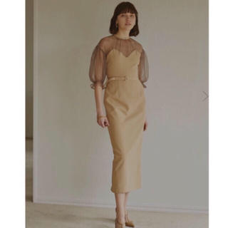 アメリヴィンテージ(Ameri VINTAGE)のAIRY SLEEVE TIGHT ドレス(ロングワンピース/マキシワンピース)