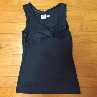 ジューシークチュール(Juicy Couture)のJUICY COTURE リボン黒タンクトップ(Tシャツ(半袖/袖なし))