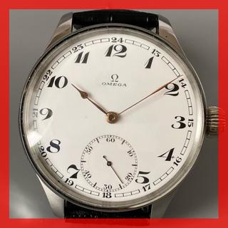 オメガ(OMEGA)のOH済 オメガ OMEGA スケルトン 手巻き 腕時計 アンティーク 白文字盤(腕時計(アナログ))
