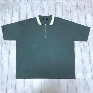 ハレ(HARE)の【kutir】オーバーサイズ ポロシャツ ハーフジップ グリーン(ポロシャツ)