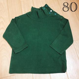 ユニクロ(UNIQLO)のUNIQLO(ユニクロ) ベビー  ハイネックロンT  80cm(Tシャツ)