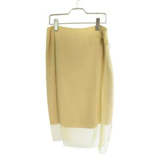ドリスヴァンノッテン(DRIES VAN NOTEN)の今月末まで 半額以下 新品 高級 シルク100% レースレイヤードスカート(ロングスカート)