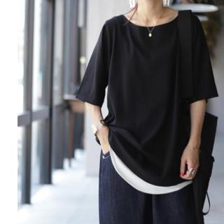 antiqua - 【新品】アンティカ ボートネックTシャツ(XL)ブラック