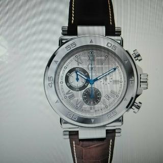 ゲス(GUESS)のGUESS Gc-1スポーツウォッチシルバー/ブラウン腕時計 メンズ(腕時計(アナログ))