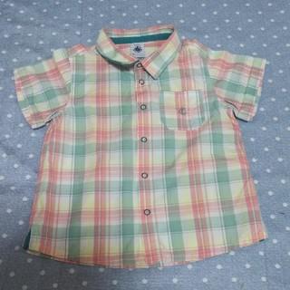 プチバトー(PETIT BATEAU)のPETIT BATEAU Baby チェックブラウスシャツ (ブラウス)