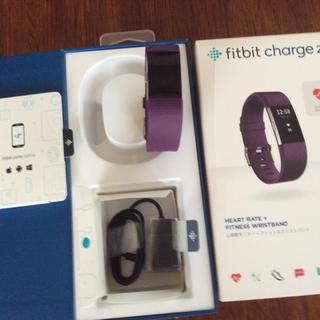 お洒落な紫のfitbit charge 2  最高の綺麗さ(腕時計(デジタル))