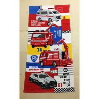タカラトミー(Takara Tomy)の★トミカ 救急車 消防車 パトカー バスタオル 1枚(タオル/バス用品)