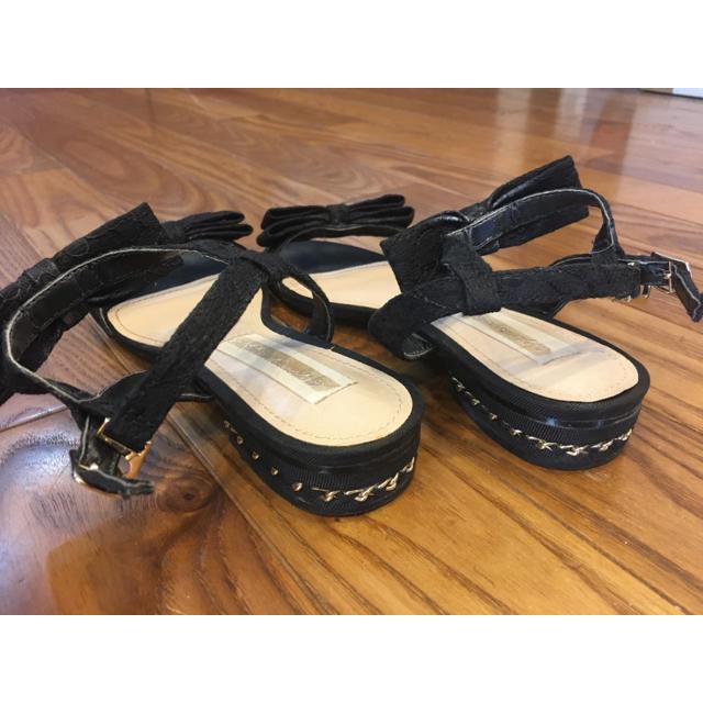 31 Sons de mode(トランテアンソンドゥモード)の31 Sons de mode リボンサンダル 黒 レディースの靴/シューズ(サンダル)の商品写真