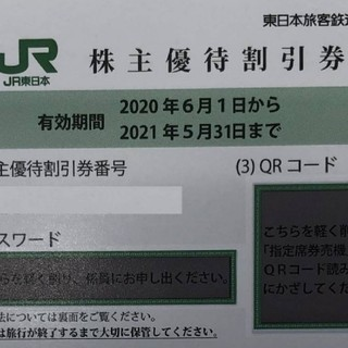 通知のみも対応 2枚セット JR東日本 株主優待券 追加可能