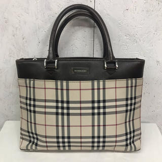 BURBERRY - BURBERRY ハンドバッグ ノバチェック レザー