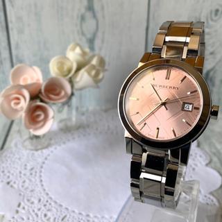 バーバリー(BURBERRY)の【美品】BURBERRY バーバリー BU9124 腕時計 シティ ピンク(腕時計(アナログ))