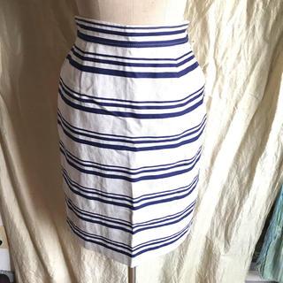 マッキントッシュフィロソフィー(MACKINTOSH PHILOSOPHY)の新品未着用 Macintosh philosophy  ボーダースカート(ひざ丈スカート)