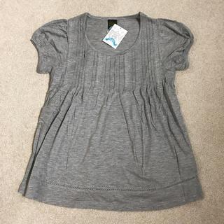 エイト(8iGHT)の【新品】エイト 8ight トップス Tシャツ グレー 紙タグ付(Tシャツ/カットソー(半袖/袖なし))