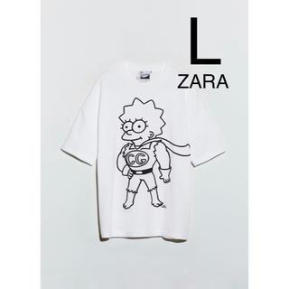 ZARA - ZARA ザラ 新品 ザ・シンプソンズ リサプリントTシャツ L