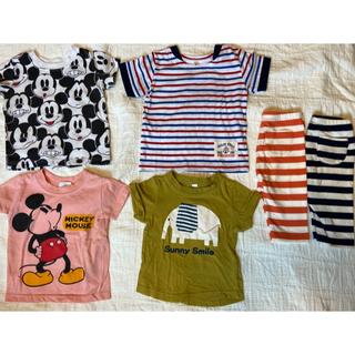 ユニクロ(UNIQLO)のレギンス ロンパース Tシャツ 80(Tシャツ)