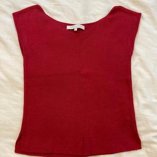 マーキュリーデュオ(MERCURYDUO)のマーキュリーデュオ 真っ赤なニットスリーブレス(カットソー(半袖/袖なし))