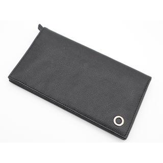 BVLGARI - 《BVLGARI/二つ折り長財布》ABランク ブラック ブルー 本体のみ 美品