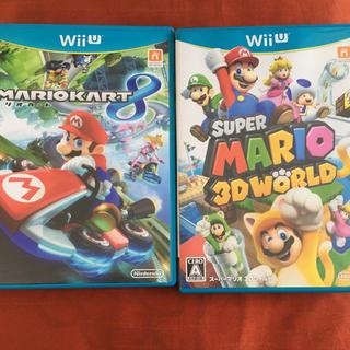 ウィーユー(Wii U)のマリオカート8 スーパーマリオ 3Dワールド wiiu ソフト カセット(家庭用ゲームソフト)