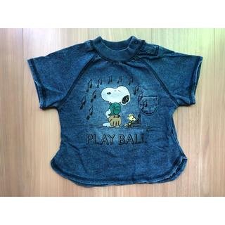 PEANUTS - BREEZE スヌーピーデニム半袖Tシャツ