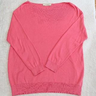 デプレ(DES PRES)のデプレ 絹 綿混 かわいい ピンク ニット カットソー(カットソー(長袖/七分))