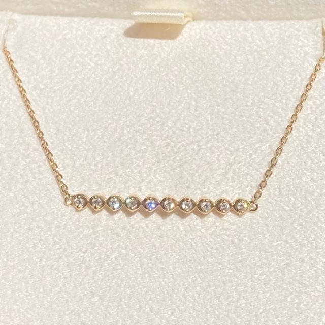 Vendome Aoyama(ヴァンドームアオヤマ)のヴァンドーム青山 ダイヤモンド ブレスレット K18 ラインブレスレット レディースのアクセサリー(ブレスレット/バングル)の商品写真