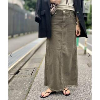 アパルトモンドゥーズィエムクラス(L'Appartement DEUXIEME CLASSE)のアパルトモン アッパーハイツ コーデュロイロングスカート 34(ロングスカート)