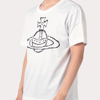 ヴィヴィアンウエストウッド(Vivienne Westwood)のタイムマシーンオーブプリントTシャツ(白)(Tシャツ/カットソー(半袖/袖なし))