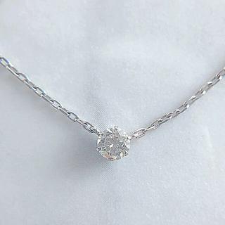 スタージュエリー(STAR JEWELRY)の美品 K18 1粒ダイヤモンドネックレス ジュエリーショップ(ネックレス)