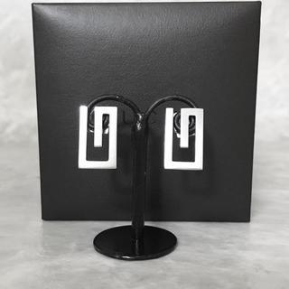 グッチ(Gucci)の正規品 グッチ ピアス  G シルバー SV925 ロゴ マーク オープン 銀(ピアス)