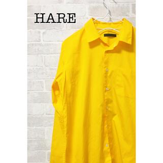 ハレ(HARE)のHARE 長袖カラーシャツ イエロー サイズS(シャツ)