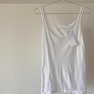 イデー(IDEE)の#10 リボン刺繍インナー¥6,050 B品サンプル&新品 ホワイト期間限定販売(タンクトップ)