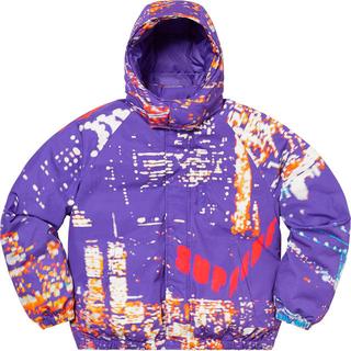 シュプリーム(Supreme)のSupreme City lights puffy jacket purple(ダウンジャケット)