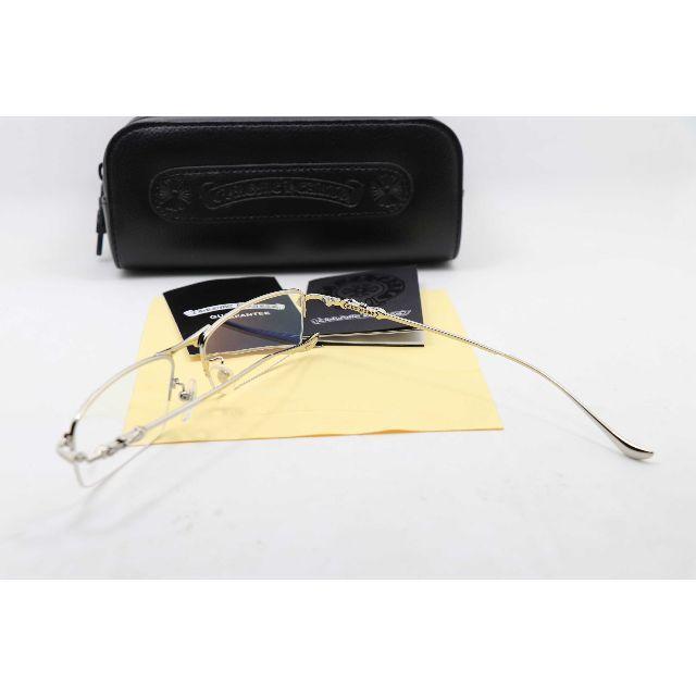Chrome Hearts(クロムハーツ)の新品 クロムハーツ メガネフレーム 伊達メガネ THERMOS II 銀 メンズのファッション小物(サングラス/メガネ)の商品写真