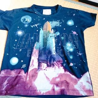 スカラー(ScoLar)のARROW&ScoLarコラボ 宇宙柄Tシャツ(Tシャツ(半袖/袖なし))