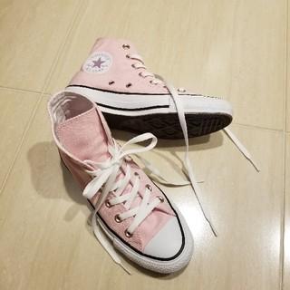コンバース(CONVERSE)のCONVERSE baby pink high cut.(スニーカー)