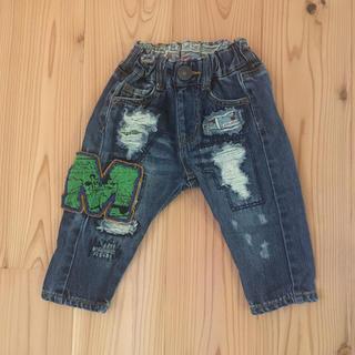 ブリーズ(BREEZE)のBREEZE ディズニー ミッキー デニムパンツ 80サイズ(パンツ)