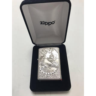 ジッポー(ZIPPO)の超レア希少品 ハワイアンジュエリー 5面手彫り 女性ZIPPO(タバコグッズ)