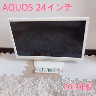 アクオス(AQUOS)のSHARP AQUOS 液晶テレビ LC24K20 ホワイト(テレビ)