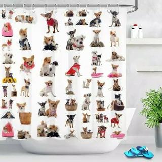 犬●バスルーム用カーテン【新品】シャワーカーテン 引っ越し 一人暮らし dog(カーテン)