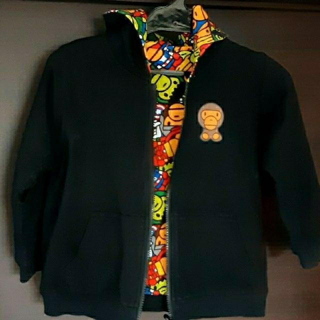 A BATHING APE(アベイシングエイプ)の【お値下げしました】BAPE KIDS のパーカーです。 キッズ/ベビー/マタニティのキッズ服男の子用(90cm~)(ジャケット/上着)の商品写真