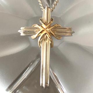 ティファニー(Tiffany & Co.)のヴィンテージ ティファニー シグネチャー18kコンビ 十字架 ネックレス(ネックレス)
