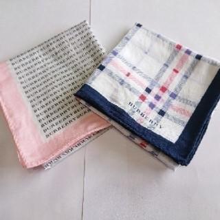 バーバリー(BURBERRY)のBURBERRY正規品スカーフ2枚セット縦横約56センチ(バンダナ/スカーフ)