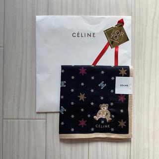 celine - 【新品】セリーヌ ハンカチ 黒 x ベア
