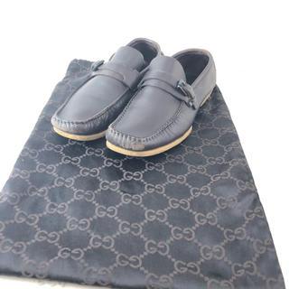 グッチ(Gucci)の☆決算セール☆ グッチ 靴 ローファー レディース 袋付き レザー 本革 黒(ローファー/革靴)