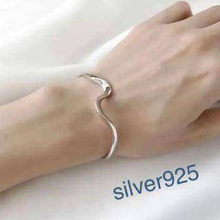 TODAYFUL - silver925  ウェーブ バングル ブレスレット