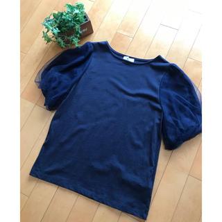 ビームス(BEAMS)の袖ふんわりレース トップス (カットソー(半袖/袖なし))