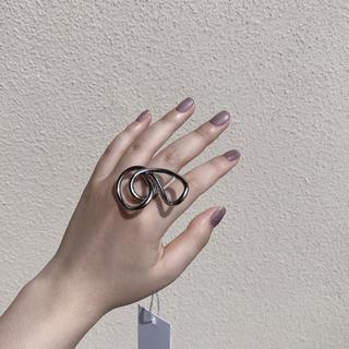マルタンマルジェラ(Maison Martin Margiela)のmaison margiela ring【18aw silver xs 11号】(リング(指輪))