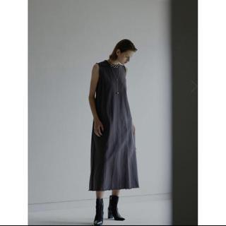 アメリヴィンテージ(Ameri VINTAGE)のAMERI DAMAGE HEM TWILL DRESS(ロングワンピース/マキシワンピース)